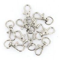 10Pcs Silver Swivel Trigger Clips Snap Lobster Clasp Hook Bag Key Ring Hooks