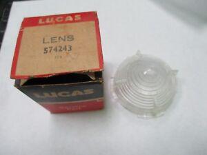 Lucas 574243 NOS lens pair (2) L539, MGA, Triumph, Rover, Vauxhall, British cars
