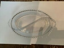 Vintage Imperial Glass Candlewick Oval Divided Relish Dish