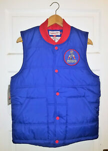 New England Patriots Mitchell & Ness Play Clock Vest Vintage Logo