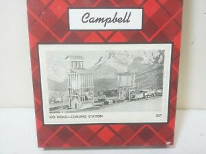 """Campbell Scale Model Part #357 Railroad Coaling Station -- Wood Kit Size 5 x 6"""""""