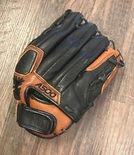 "Wilson A500 AO502 13"" Softball Left Hand Throw Ecco Leather LHT Black Brown"