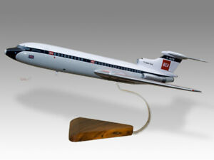 Hawker Siddeley HS-121 Trident BEA Solid Mahogany Wood Handmade Airplane Model