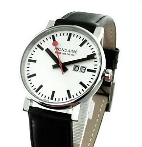Mondaine Official Swiss Herren Uhr A627.30303.11SBB EVO Big 40 mm Neu OVP