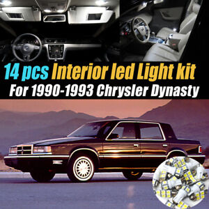 14Pc Super White Car Interior LED Light Bulb Kit for 1990-1993 Chrysler Dynasty
