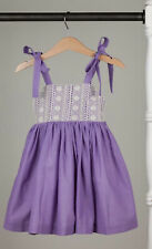 NEW WDW Well Dressed Wolf Purple Party Celebration sun dress Size 7 years