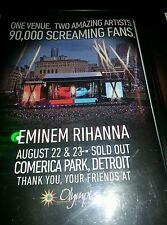 Eminem and Rihanna Comerica Park Rare Promo Poster Ad Framed!