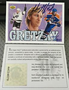 1992-93 Upper Deck Wayne Gretzky Signed Heroes Card #1011/2800 UDA