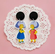 Patty and Selma Bouvier the Simpsons dangle mismatched stud earrings