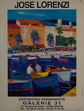 Affiche JOSE LORENZI Exposition Galerie 31 Bastia