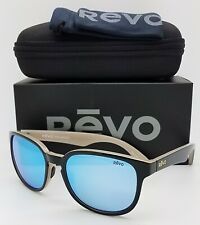 NEW Revo Kash sunglasses RE 1028 11 BL Black Cream Blue Mirror Polarized GENUINE