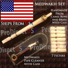 Traditional Iranian Camel Bone Medwakh Arab UAE Dokha Tobacco Smoking Pipe SET 1