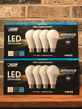 Feit 100W Replacement 8 Pack Dimmable Daylight 17.5 W LED Light Bulb