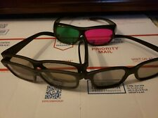 Lot Of 4 x 3D Glasses VIZIO real D 3D Trioviz Red and Blue Pink and Green