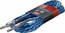 Stagg high quality guitar instrument cable lead 6m 20 pieds phono sgc6vtbl nouveau
