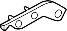 Nissan 62225-1PA0A Bumper Face Bar Bracket (Left