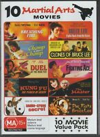 10 DVD MARTIAL ARTS MOVIES ON 3 DISCS ZONE NTSC