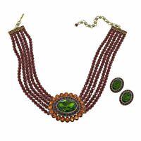 "Heidi Daus ""Dazzling Delight"" Necklace & Earrings Set Olivine NWT"