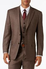 $574 MICHAEL KORS men BROWN SLIM-FIT SUIT SPORT WOOL JACKET BLAZER SIZE 38 S