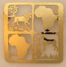 Rhodesian Ridgeback Jewelry Gold Large Pin