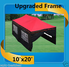 10'x20' Pop Up Canopy Party Tent EZ - Red Flame - F Model Upgraded Frame