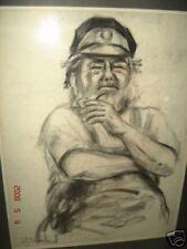 sea captain charcoal painting armenian painter balentz