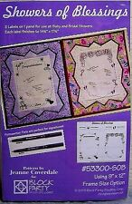 """EZ Framez Sewing Quilting Pattern with """"Showers of Blessing"""" Baby Fabric Panels"""