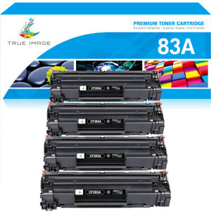 4 Black 83A CF283A Toner Compatible For HP LaserJet Pro M127fn M127fw M125nw MFP