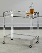 NEW  Horchow Maxima Acrylic Lucite Bar Cart Mid Century Modern Glam Art Deco