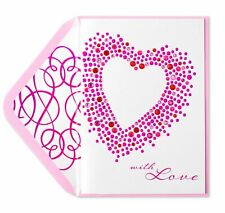 Elegant Papyrus GEMS and DOTS HEART Valentine Card with LOVE Retails for $7.95