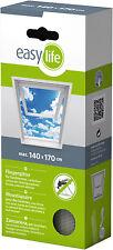 EasyLife Insektenschutzgitter für Dachfenster 140x170 WEISS oder Anthrazit