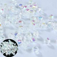 DIY Jewelry 2/3/4mm Bicone 5301 Crystal 1000pcs making beads Loose