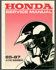 Honda ATC 250SX 1985,1986,1987 Motor Repair Service Manual Shop Manual PDF