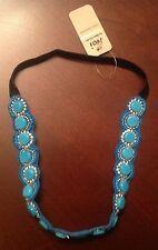 SALE Women's Turquoise Colored Stone Headband Mini-Rhinestones,Fashion Headband