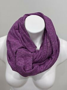 Lululemon Vinyasa Scarf Wrap Rulu Violet Purple Gray Pique Mini Check Stripe