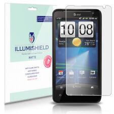iLLumiShield Matte Screen Protector w Anti-Glare/Print 3x for HTC Vivid