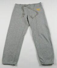 Victorias Secret PINK Womens Solid Gray Cropped Capri Sweat Pants No Pockets S