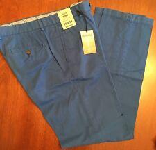 NWT Murano ALEX Slim Fit Mens 35x34 Flat Front CottonLinen Pants $79 COBALT BLUE