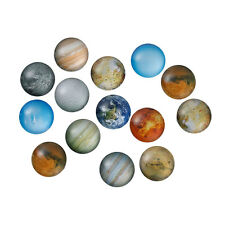 20mm - 10 pcs. Circle Planets Round Glass Dome Seals Tiles Cabochons -Universe