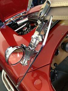 Wind wing Sunvisor Trim Kit Chrome Fits ERA Cobra, Backdraft Cobra, Shelby Cobra