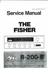 Fisher  Service manual   für R 200 - B