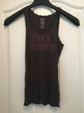 LUCKY BRAND 257 100% Cotton Brown Chica Caliente Tank Top Size L
