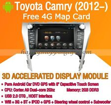 Android In Dash Car DVD Radio GPS Navigation WIFI 3G for Toyota Camry 2012-2014
