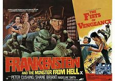 Frankenstein and the Monster From Hell - Peter Cushing - A4 Laminated Poster