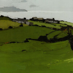 Rhos Cryman Anglesey Kyffin Williams Welsh landscape print in an 11 x 14 mount