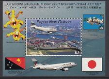 Papua New Guinea 1997 First Flight to Osaka