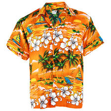 Hawaiian Shirt Aloha Hibiscus Chaba Coconut Beach Holiday Orange S ha264o bid