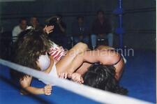 Close Ringside Action View Sexy Girls Women Wrestling Vintage 1990s Photo