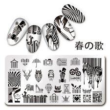 Nail Art Stamp Plate Bar Code QR Code Manicure Image Template Harunouta L041