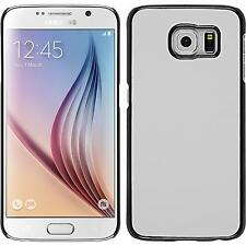 Hardcase for Samsung Galaxy S6 leather optics white Cover + protective foils